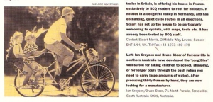 The Long Bike appears in BCQ #11, December 1996.