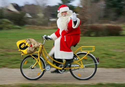 A Dutch Bicycle Santa.