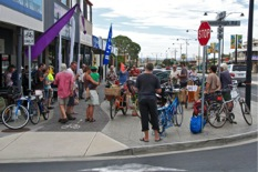 Filming the Semaphore Cargo Bike Gathering.