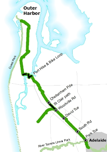 The Outer Harbour Greenway Route. (1/6)
