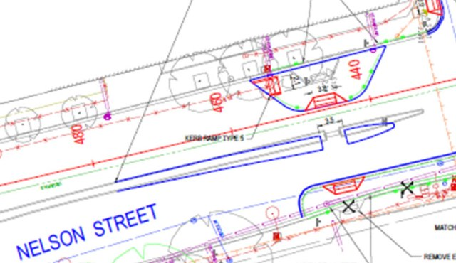 DPTI's proposed improvements to the Nelson Street crossing.