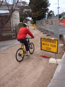 DPTI's new Greenway access pathway at Station Place, Alberton.