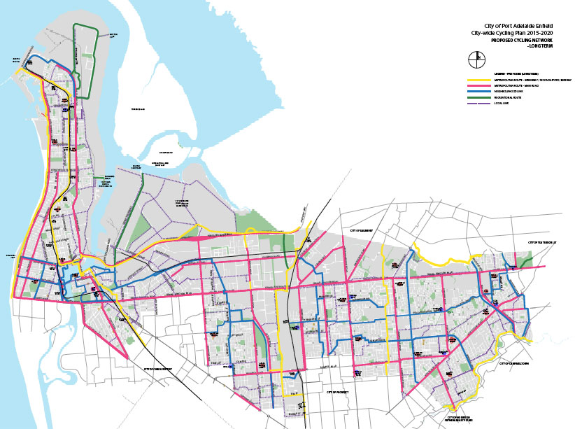 Port Adelaide/Enfield Bicycle Network Plan 2014/15. (2/6)