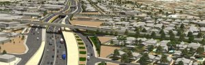 Proposed bicycle & train overpass - South Road.