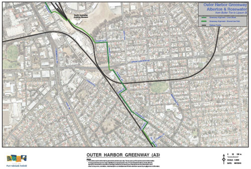 The Outer Harbour Greenway Route. (6/6)