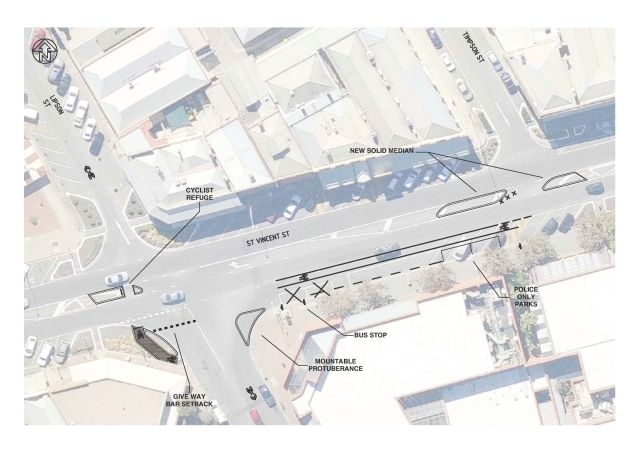 Lipson St Upgrade - St Vincent St Crossing