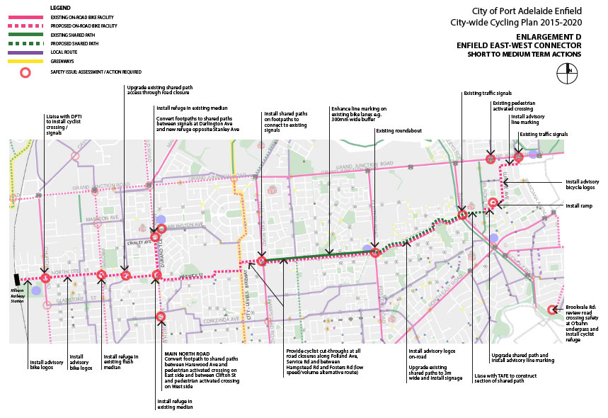 Port Adelaide/Enfield Bicycle Network Plan 2014/15. (5/6)