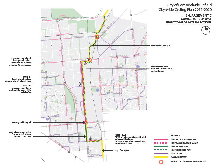 Port Adelaide/Enfield Bicycle Network Plan 2014/15. (6/6)