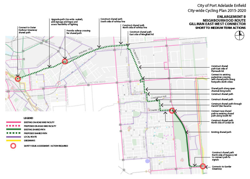 Port Adelaide/Enfield Bicycle Network Plan 2014/15. (4/6)