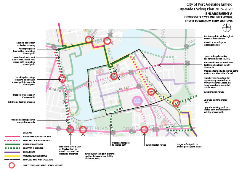 Port Adelaide/Enfield Bicycle Network Plan 2014/15. (3/6)